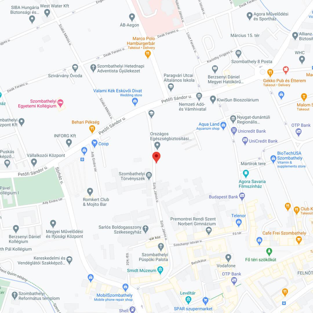 Pencloud térkép