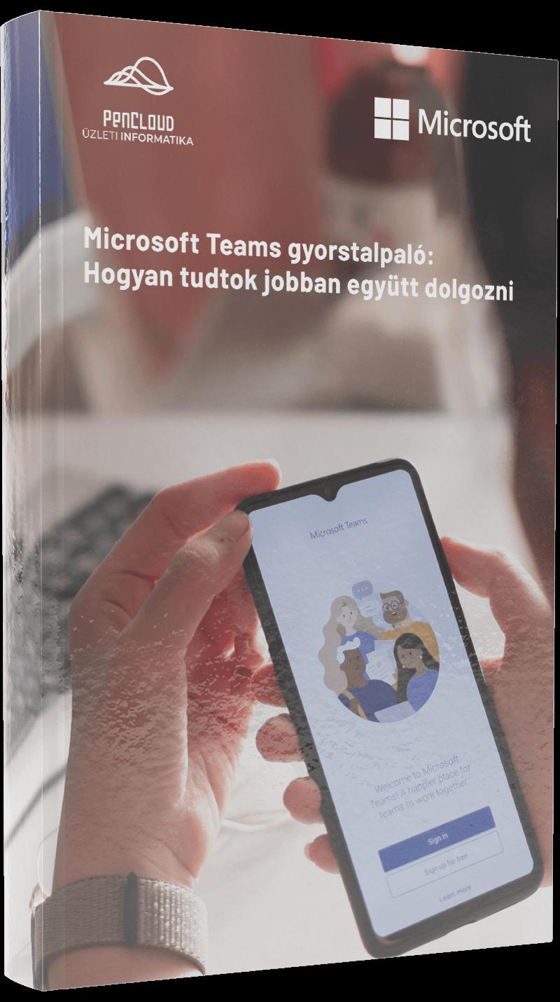 Microsoft Teams gyorstalpaló: Hogyan tudtok jobbane gyütt dolgozni - mockup